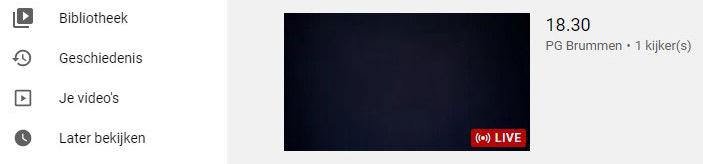 """Meevieren:  Klik op het plaatje- U komt op Youtube PG Brummen-U klikt op het """"live""""plaatje voor de live-stream."""